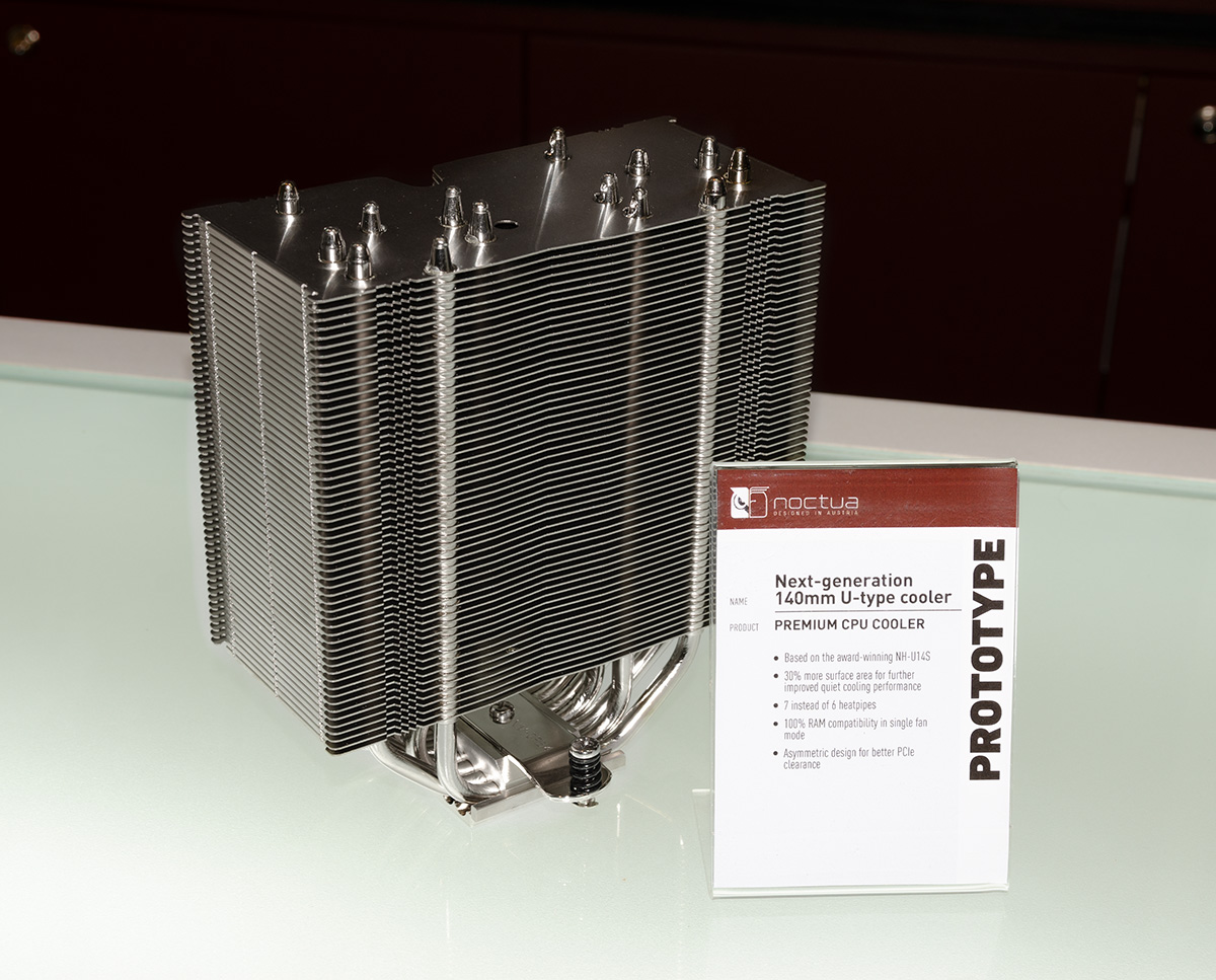 Noctua At Computex 2018 Nh U14s In The Chromax Line Showed All Black Versions Of D15 U12s And L9i Which Are Scheduled For Release Late Or Q1 2019