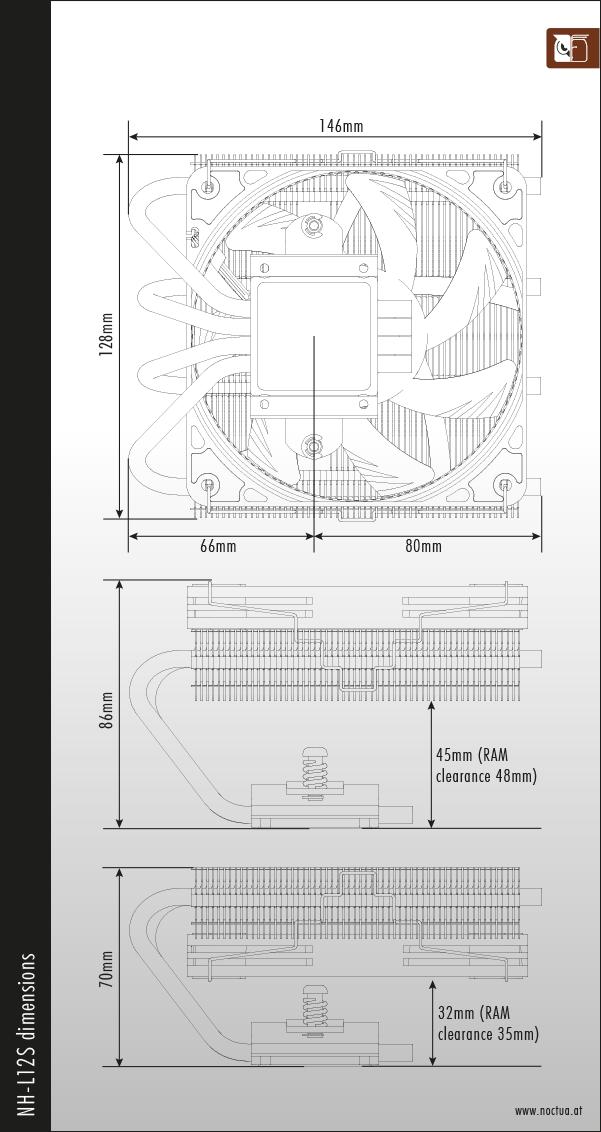 NH-L12S dimensions